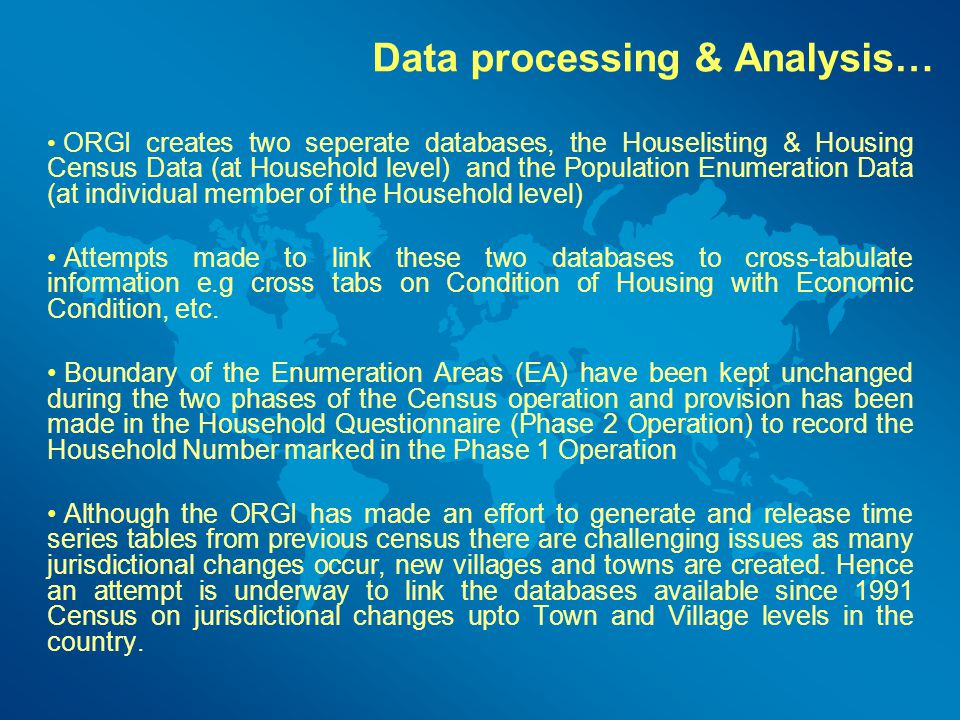 Data processing & Analysis…