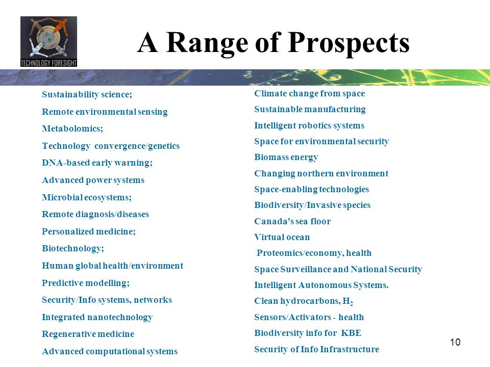 A Range of Prospects Sustainability science;