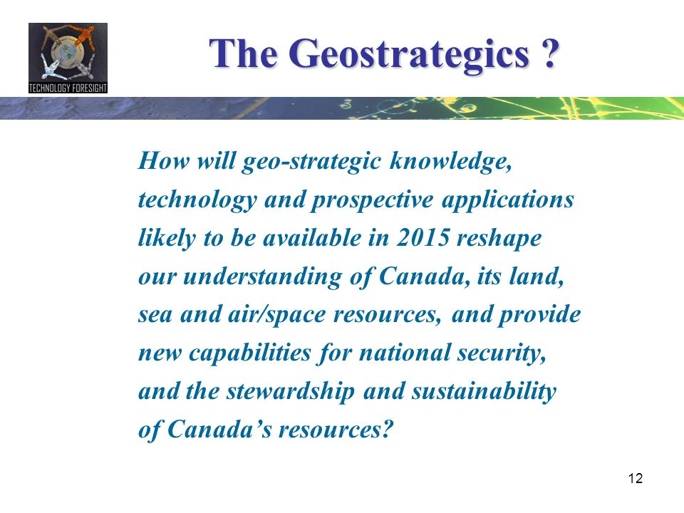 The Geostrategics