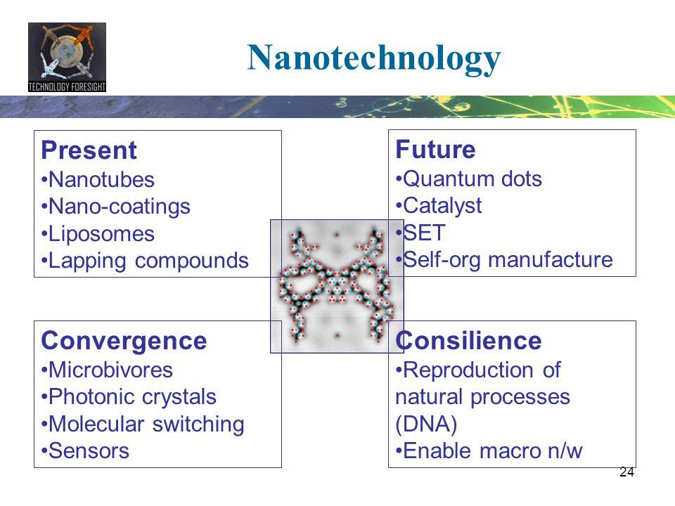 Nanotechnology Present Future Convergence Consilience Nanotubes