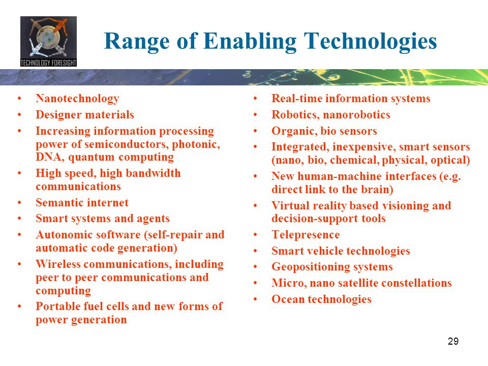 Range of Enabling Technologies