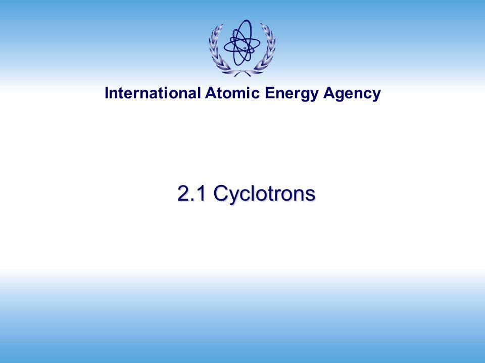 2.1 Cyclotrons