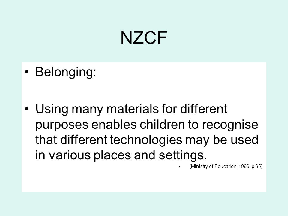 NZCF Belonging: