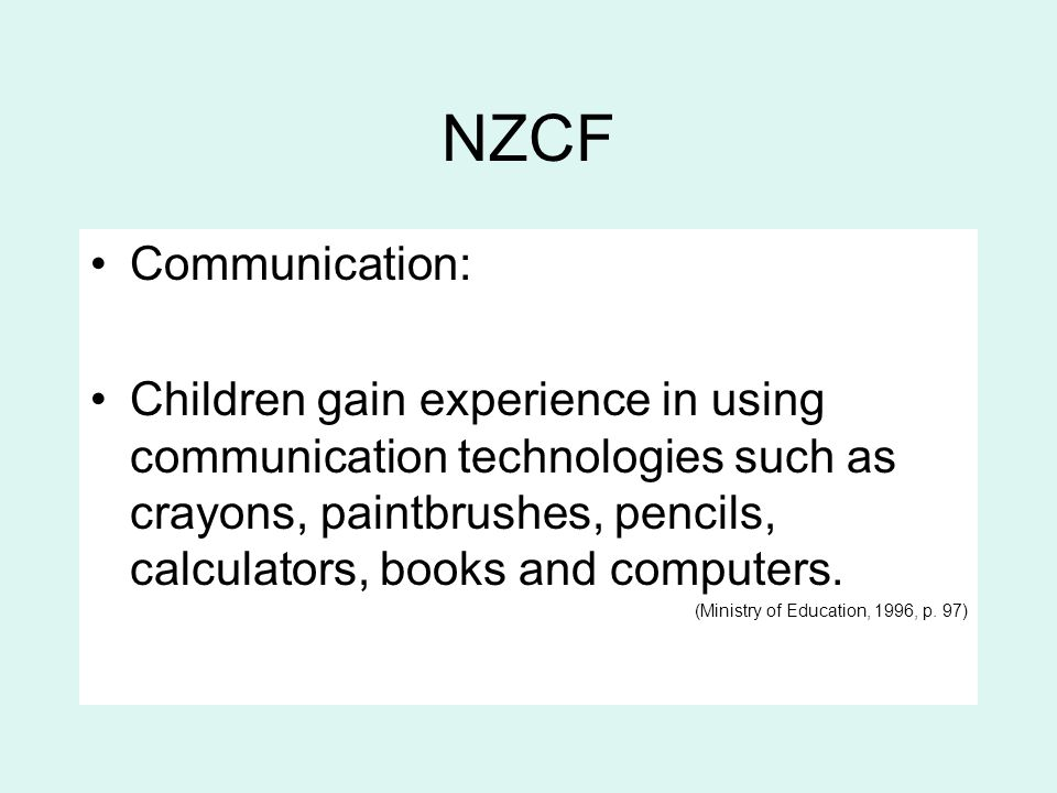 NZCF Communication: