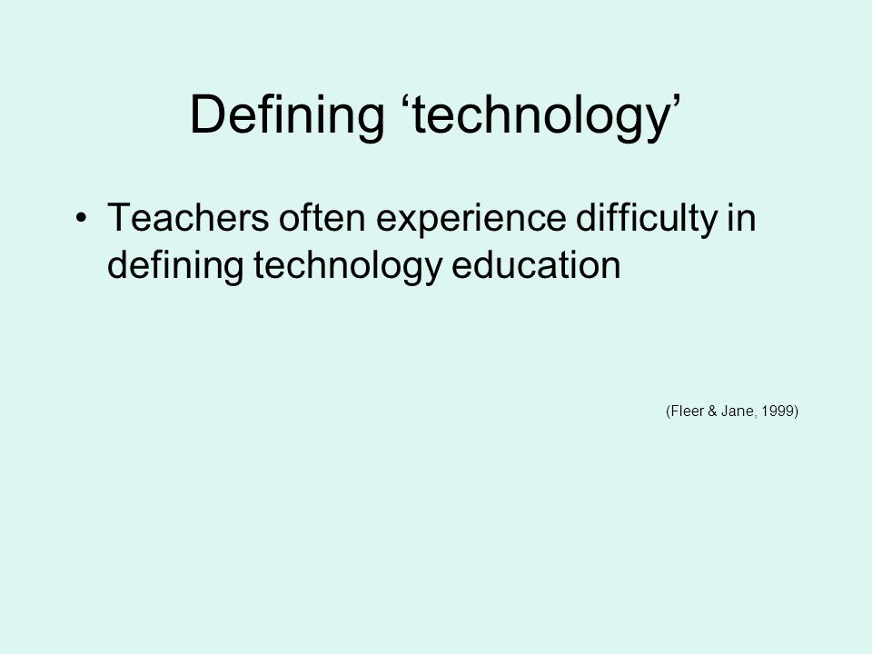 Defining 'technology'