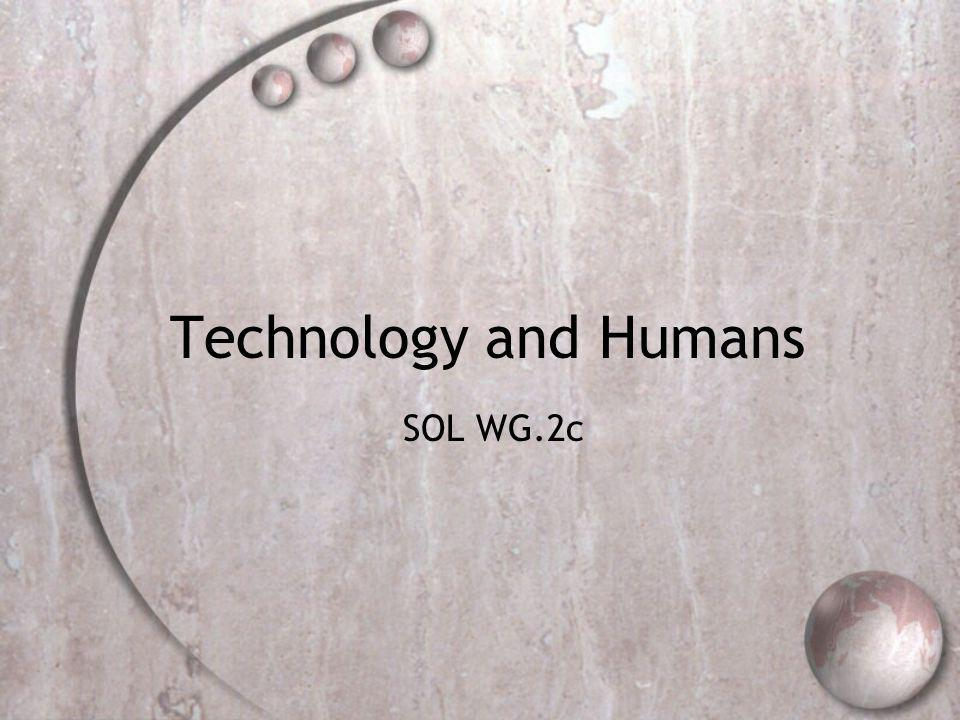Technology and Humans SOL WG.2c