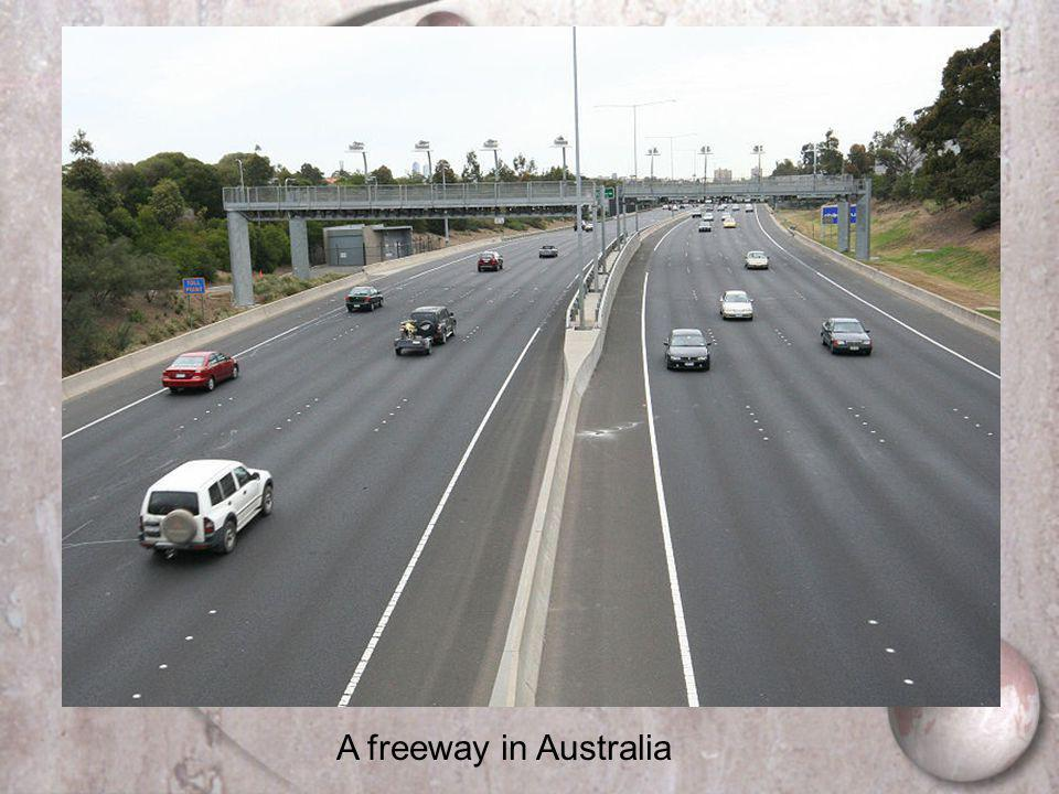 A freeway in Australia