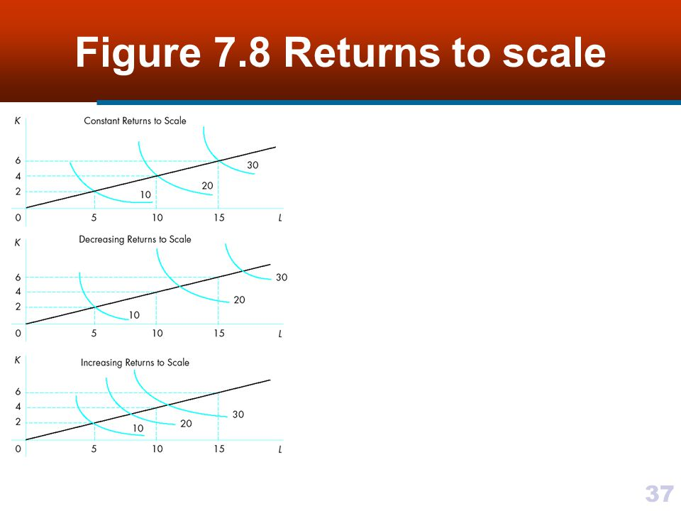 Figure 7.8 Returns to scale