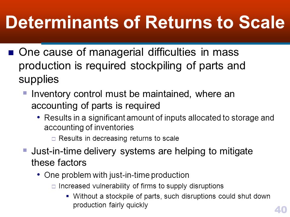 Determinants of Returns to Scale