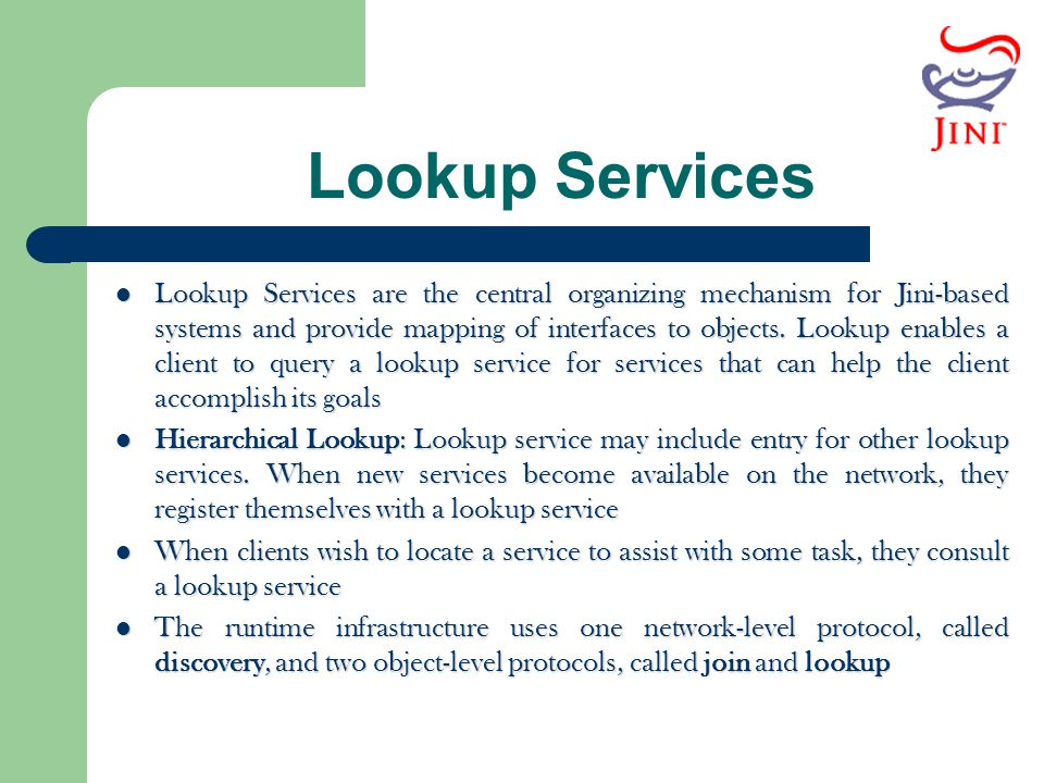 Lookup Services