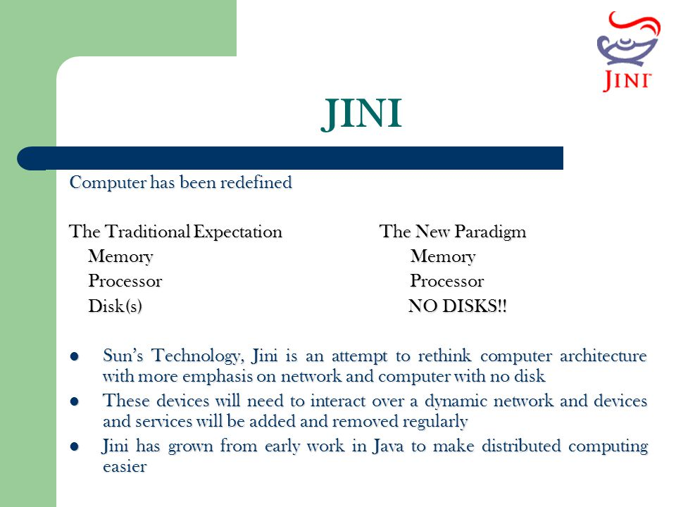 JINI Computer has been redefined