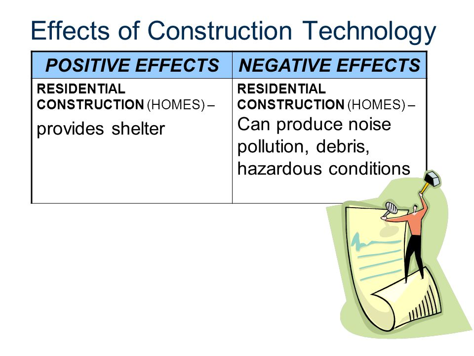 Effects of Construction Technology