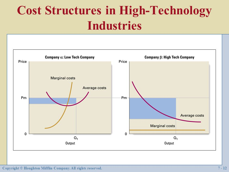 Cost Structures in High-Technology Industries