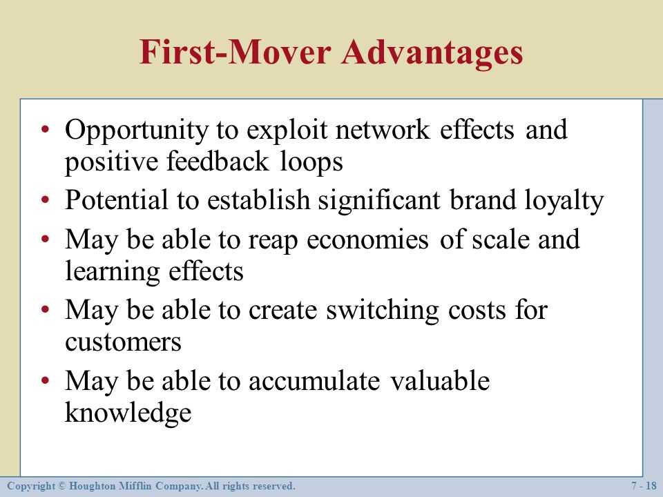 First-Mover Advantages