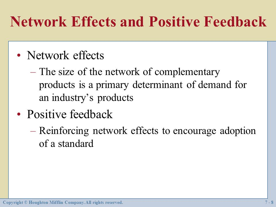 Network Effects and Positive Feedback