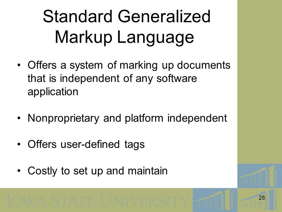 Standard Generalized Markup Language