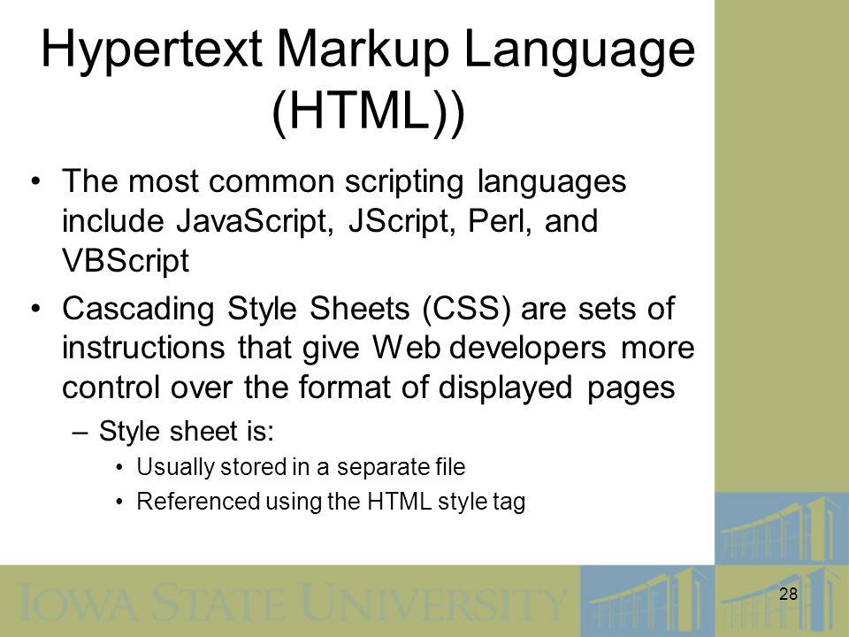 Hypertext Markup Language (HTML))