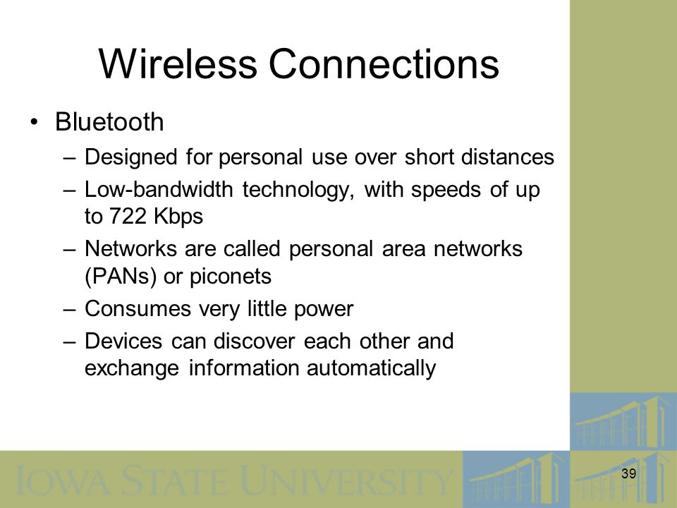 Wireless Connections Bluetooth