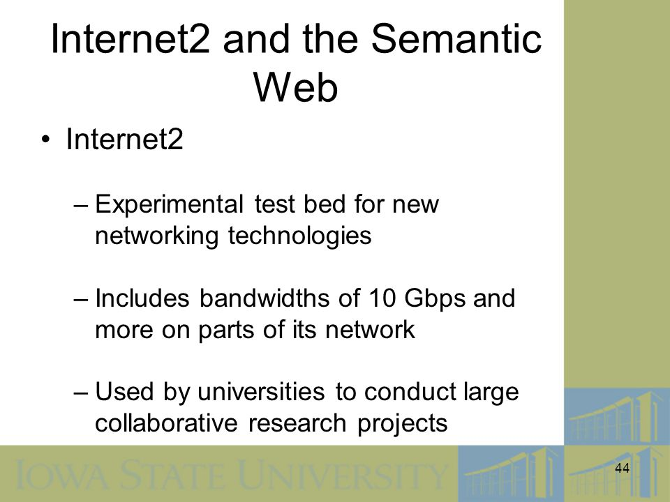 Internet2 and the Semantic Web