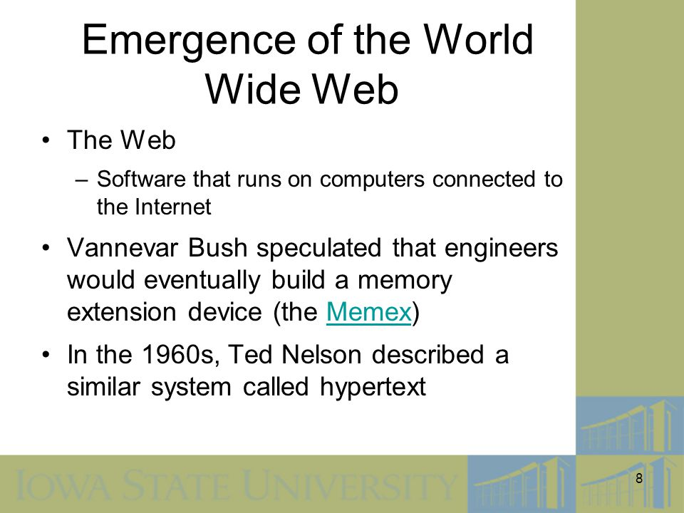 Emergence of the World Wide Web
