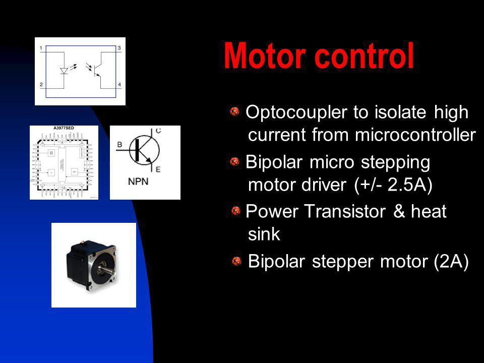 Motor control Optocoupler to isolate high current from microcontroller