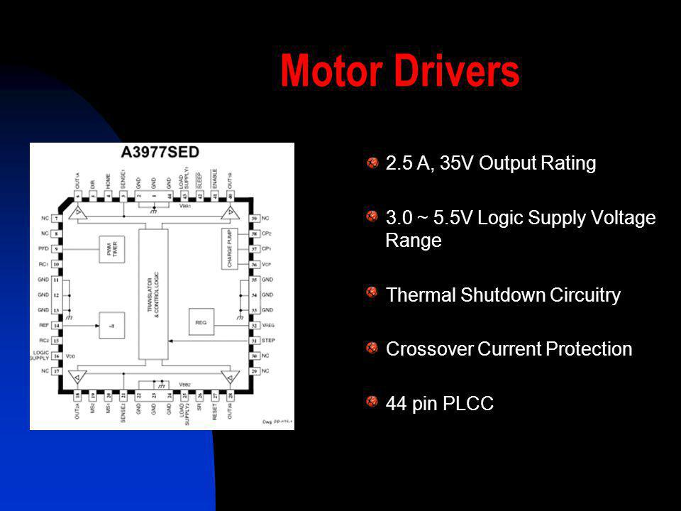 Motor Drivers 2.5 A, 35V Output Rating