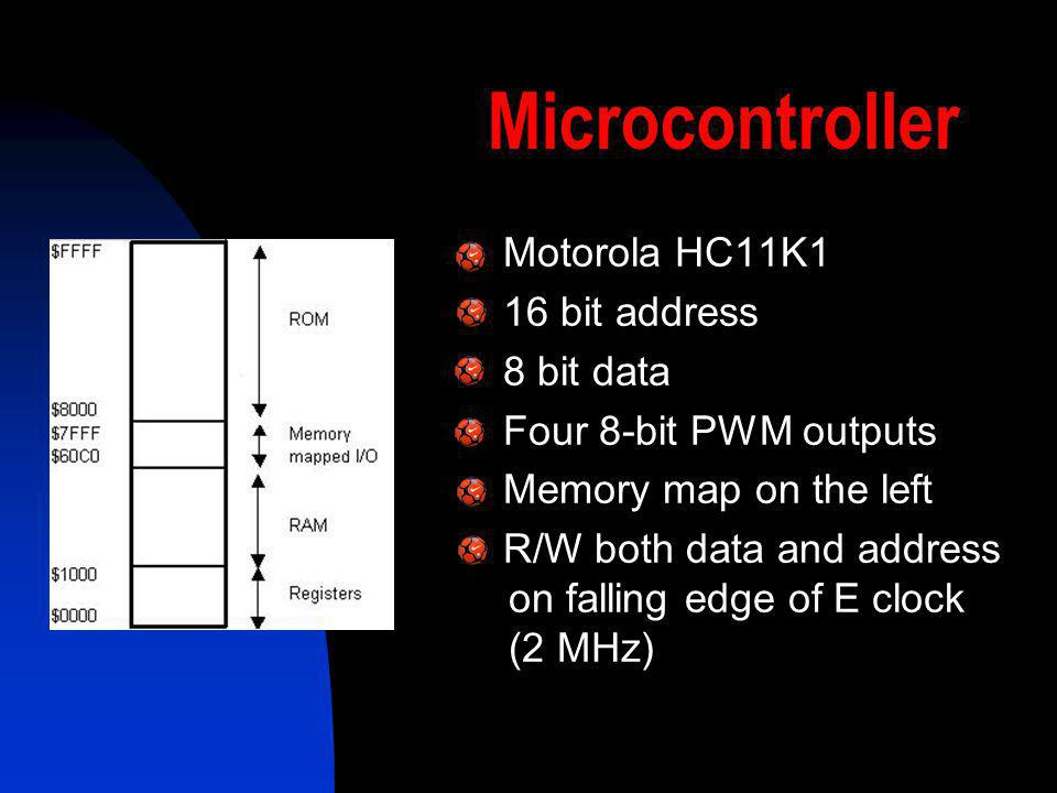 Microcontroller Motorola HC11K1 16 bit address 8 bit data
