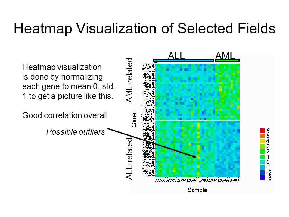 Heatmap Visualization of Selected Fields