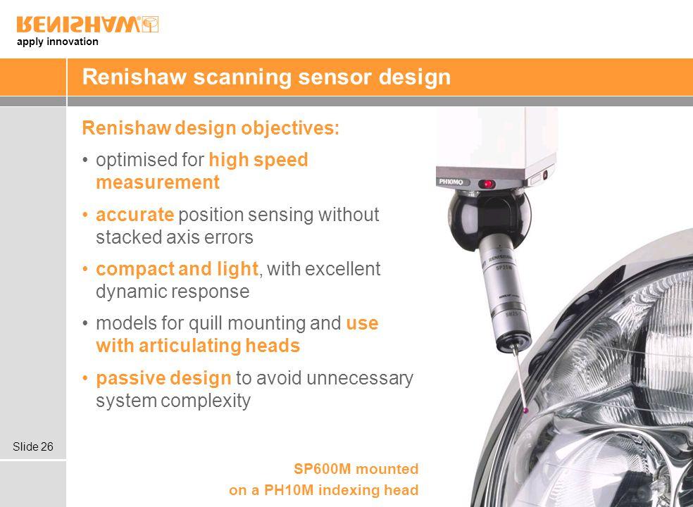 Renishaw scanning sensor design