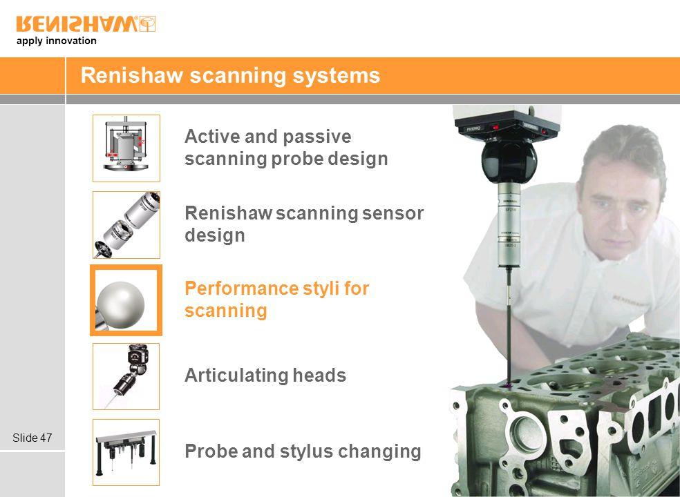 Renishaw scanning systems