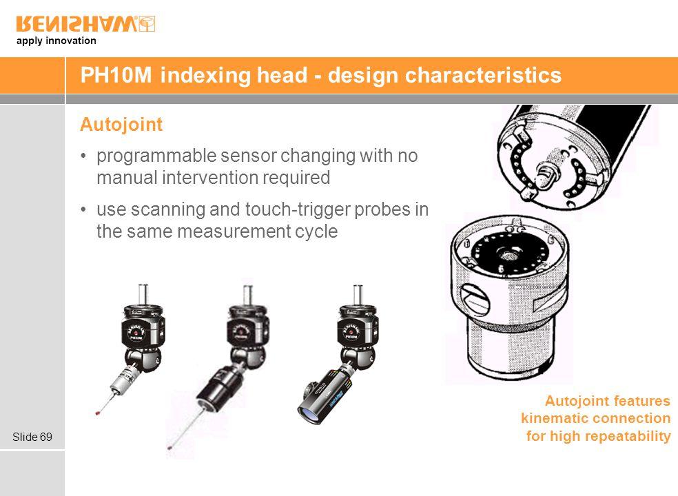 PH10M indexing head - design characteristics