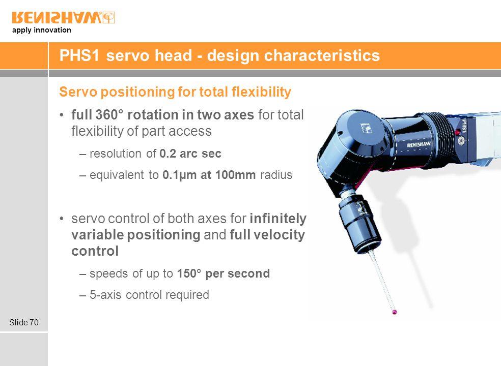 PHS1 servo head - design characteristics