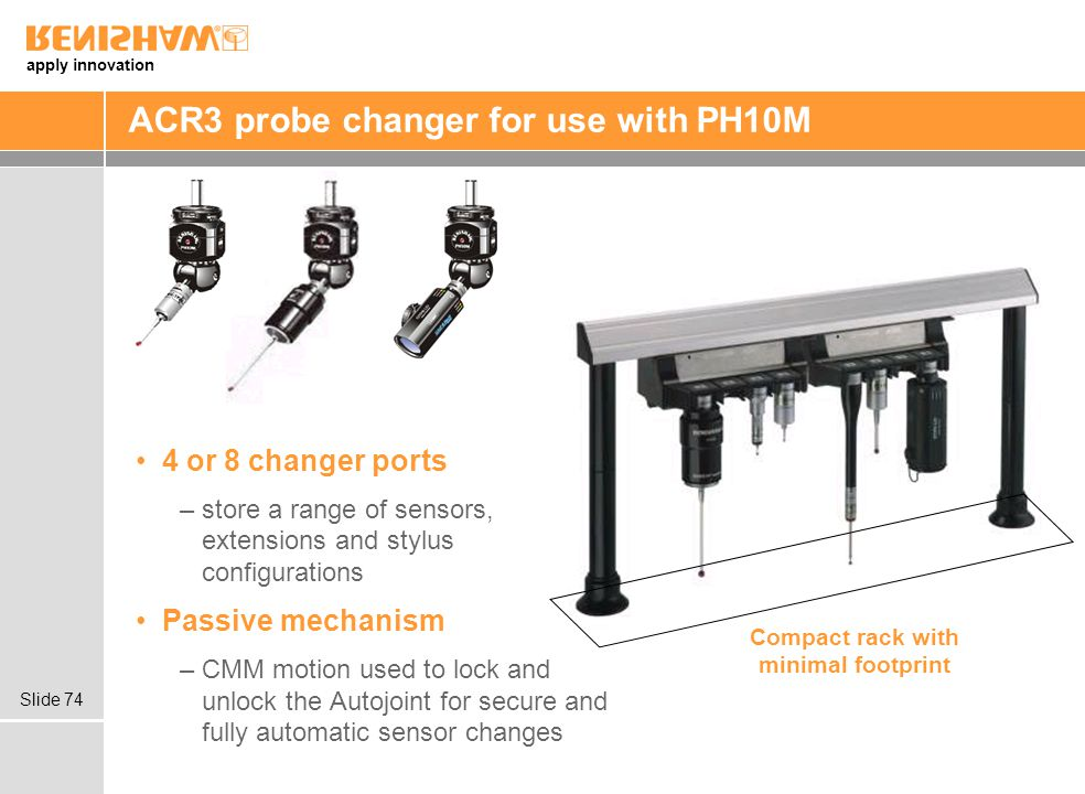 ACR3 probe changer for use with PH10M