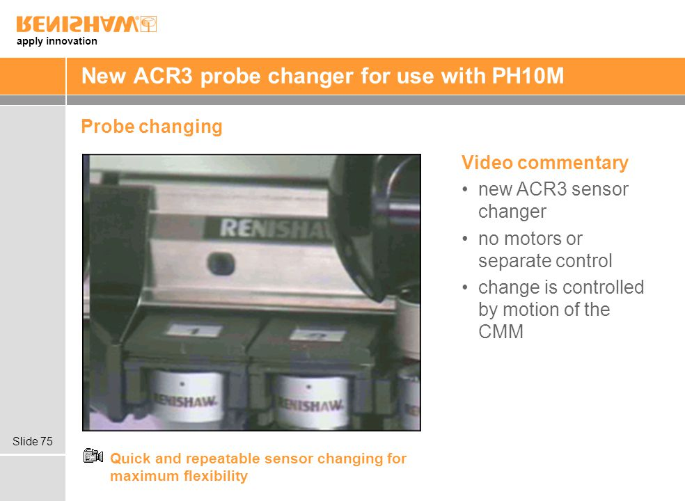 New ACR3 probe changer for use with PH10M