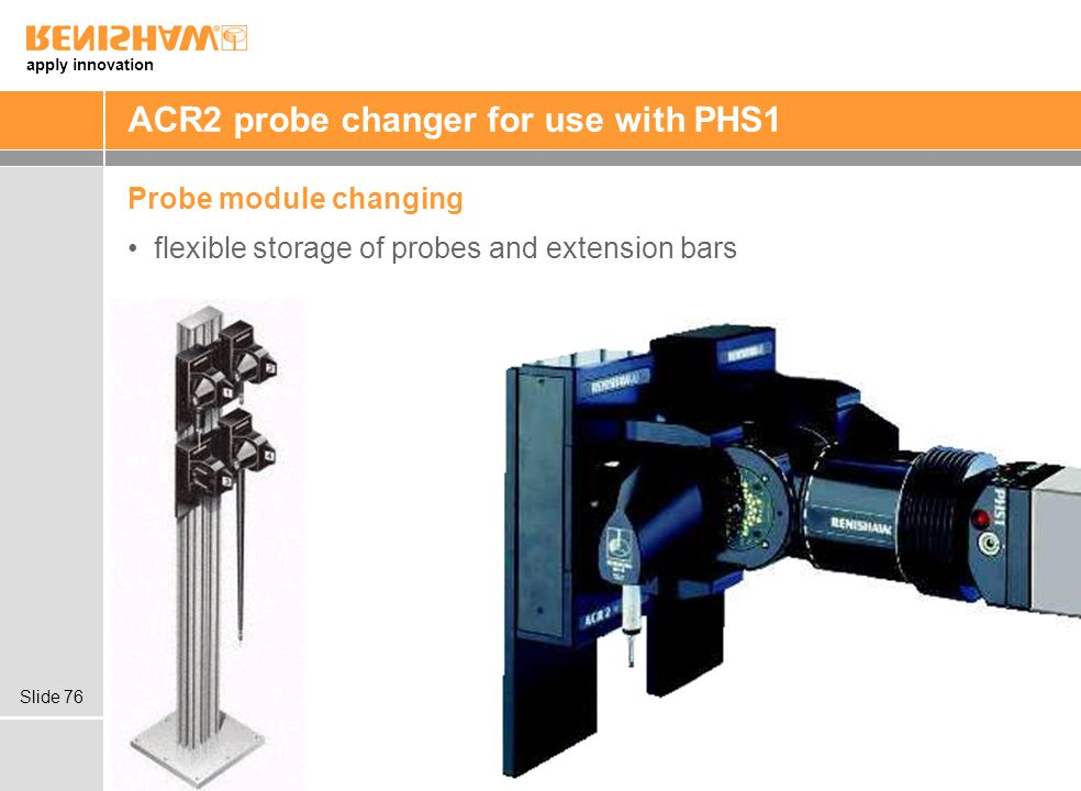ACR2 probe changer for use with PHS1