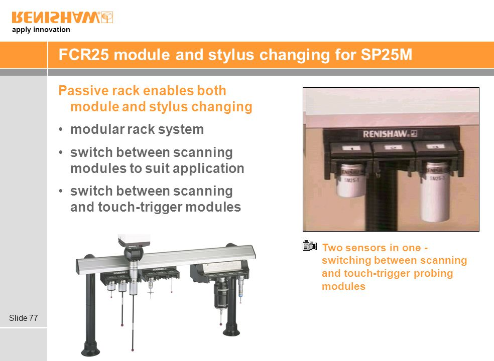 FCR25 module and stylus changing for SP25M