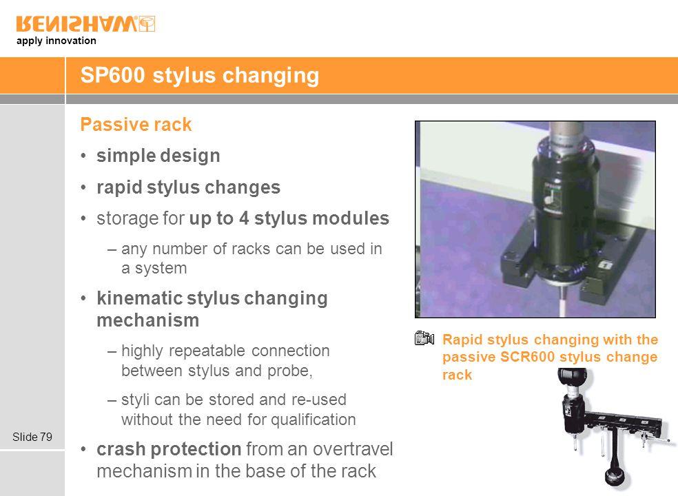SP600 stylus changing Passive rack simple design rapid stylus changes
