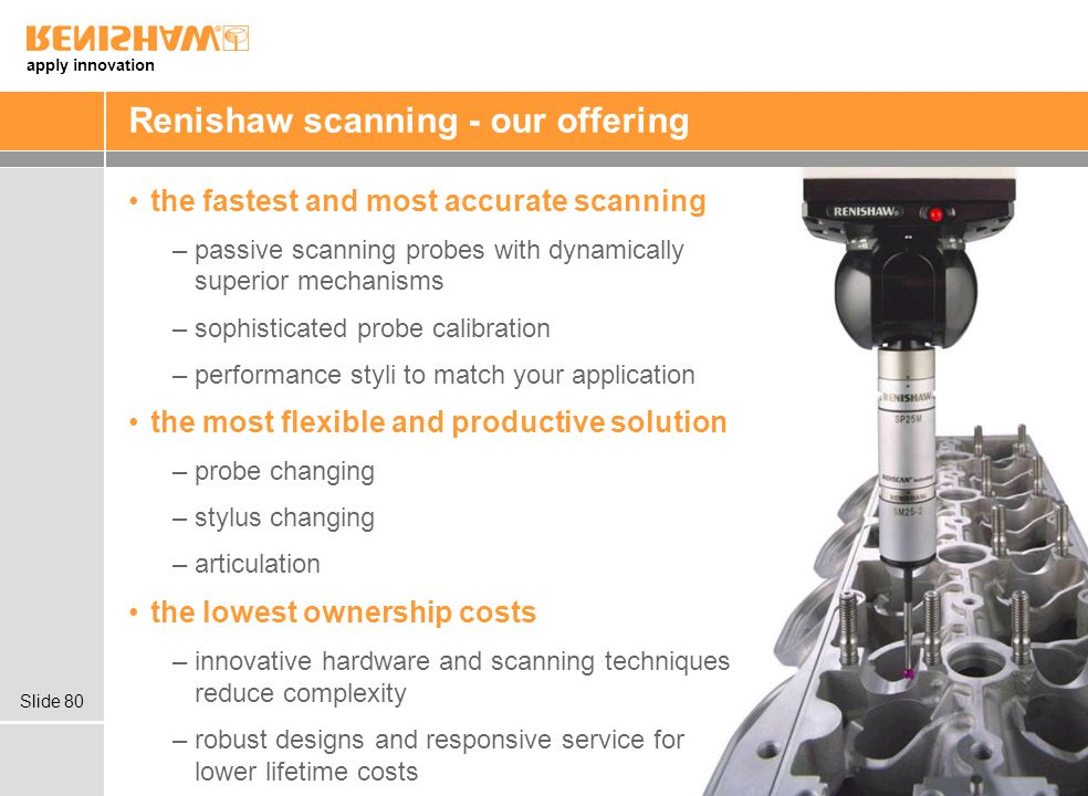 Renishaw scanning - our offering