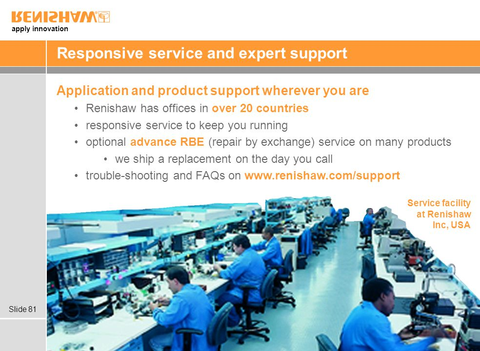 Responsive service and expert support