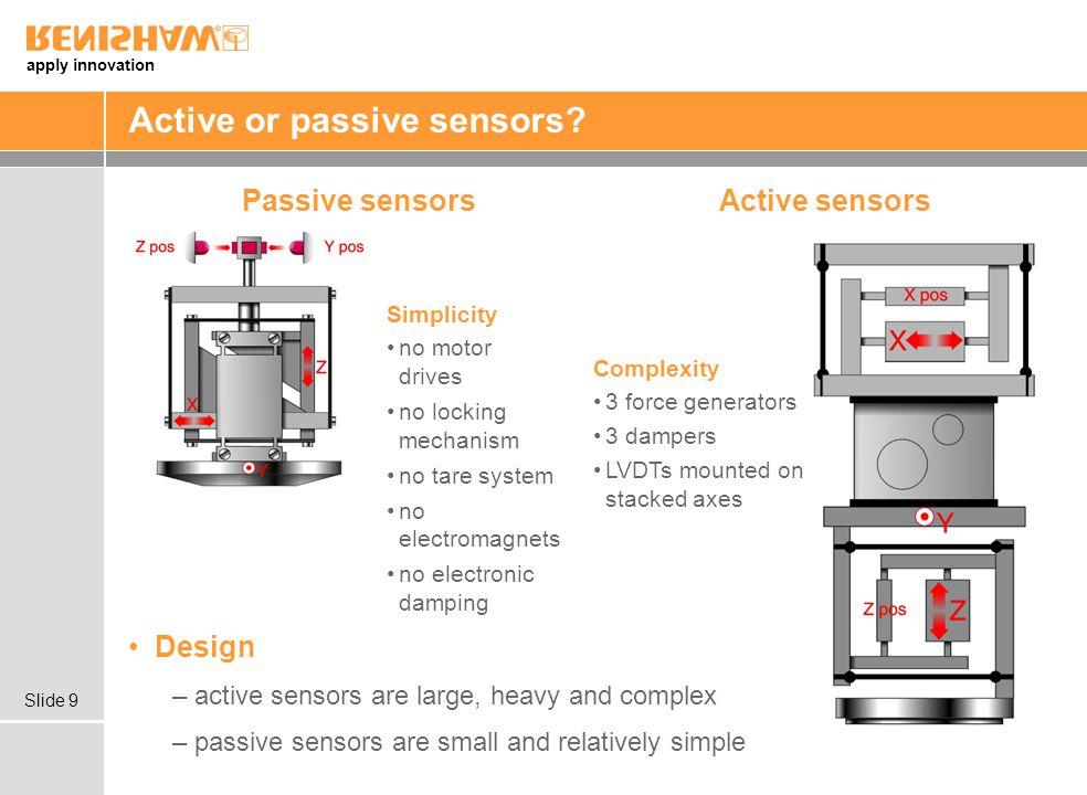 Active or passive sensors