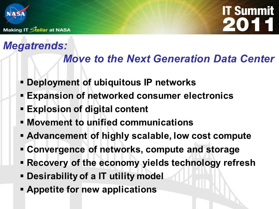Megatrends: Move to the Next Generation Data Center