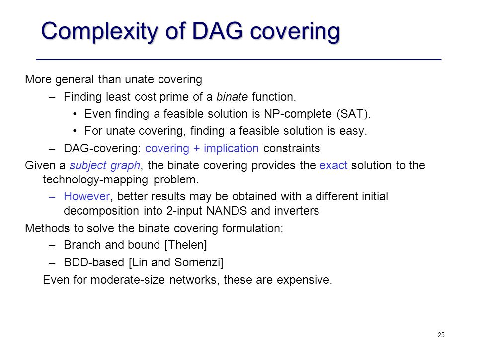 Complexity of DAG covering