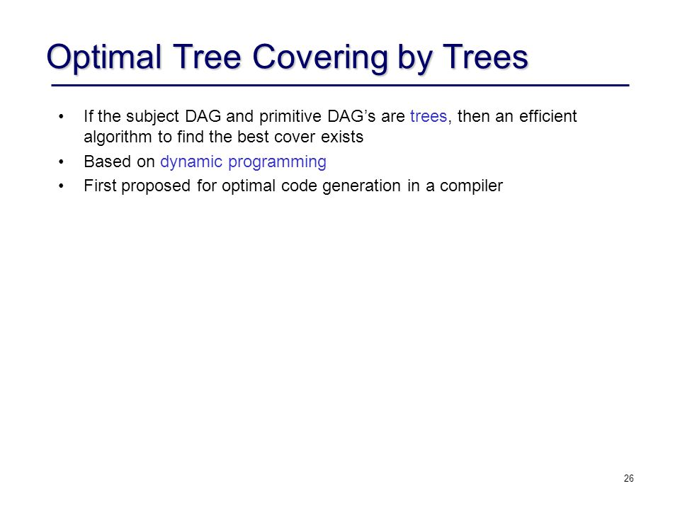 Optimal Tree Covering by Trees
