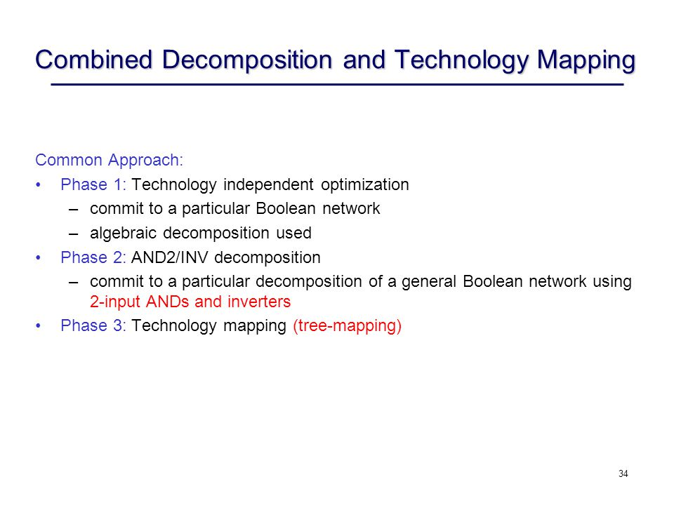 Combined Decomposition and Technology Mapping