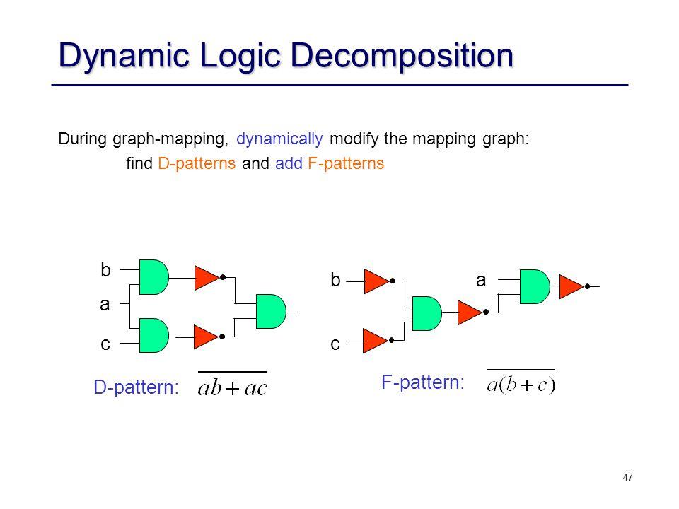 Dynamic Logic Decomposition