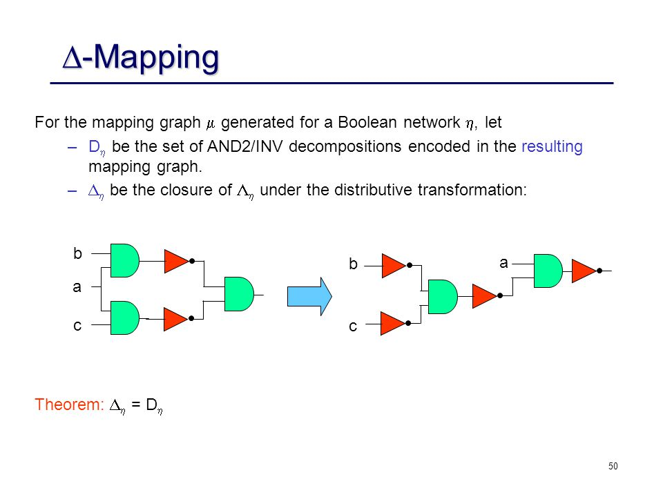 -Mapping For the mapping graph  generated for a Boolean network , let.