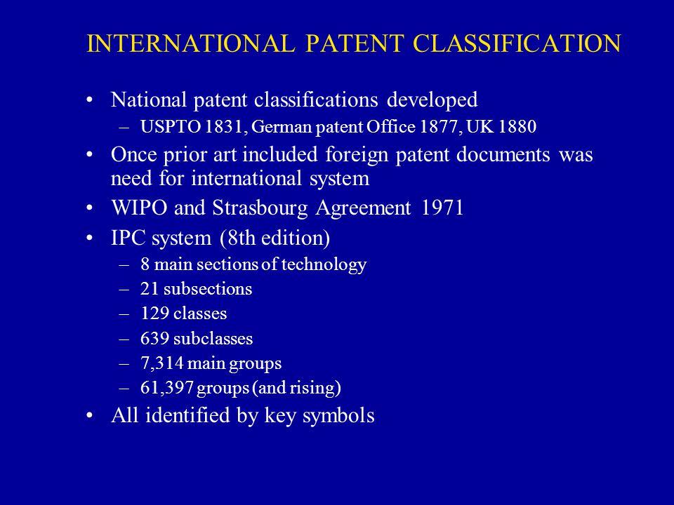INTERNATIONAL PATENT CLASSIFICATION