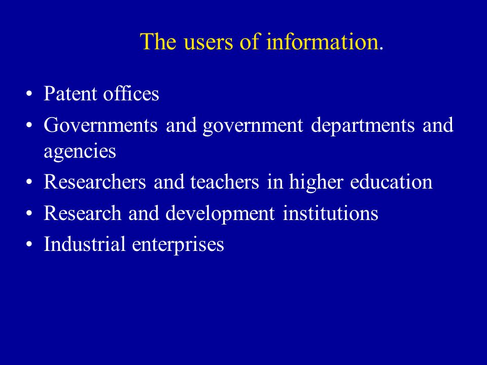 The users of information.