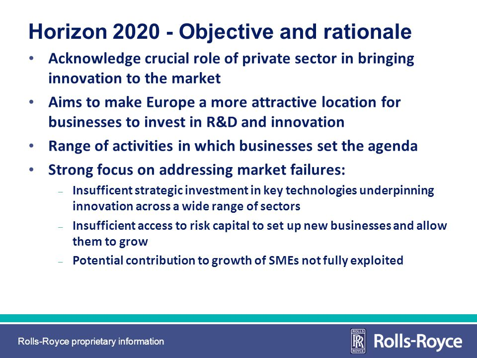 Horizon 2020 - Objective and rationale