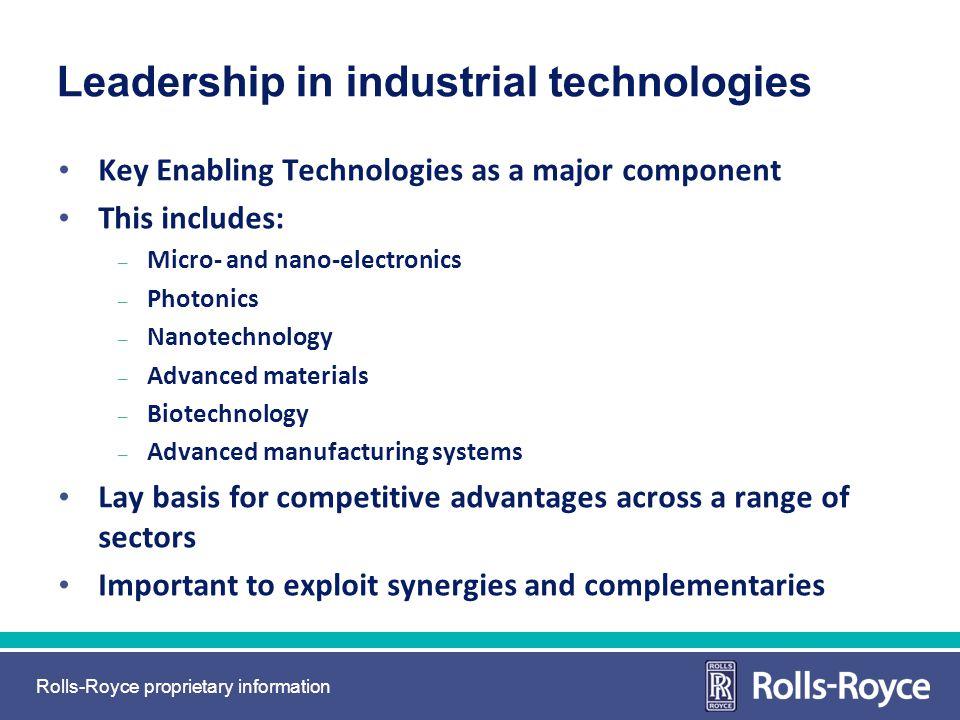 Leadership in industrial technologies